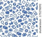 seamless social media patterns | Shutterstock . vector #175278392