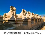 Row Of Ancient Sculptures Of...