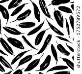 black paint brush leaves vector ... | Shutterstock .eps vector #1752789572