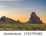 Shiprock  New Mexico  Usa At...