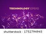 plexus data. abstract technical ... | Shutterstock .eps vector #1752794945