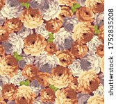 seamless vector pattern of a... | Shutterstock .eps vector #1752835208