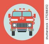 fire truck flat vector... | Shutterstock .eps vector #175288352
