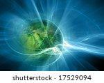 Futuristic Fractal And Earth...