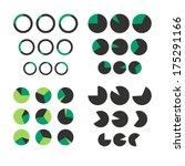 vector set of pie diagrams for...