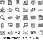 thin line gray tint vector icon ... | Shutterstock .eps vector #1752919682