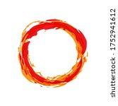 Fire Circle Vector Illustration....