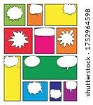comic book page. retro comic... | Shutterstock .eps vector #1752964598