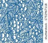 grape and vine hand drawn... | Shutterstock .eps vector #1752967118