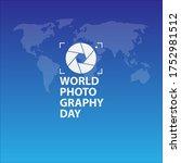 world photography day vector... | Shutterstock .eps vector #1752981512