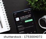 Small photo of Assam, india - June 09, 2020 : Truecaller app for identifying caller ID, sms etc.