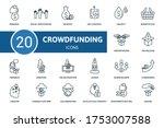 Crowdfunding Icon Set....