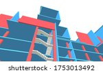 building concept abstract... | Shutterstock .eps vector #1753013492