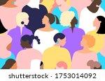 women seamless pattern. girl... | Shutterstock . vector #1753014092