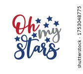 oh my stars   happy... | Shutterstock .eps vector #1753048775