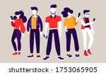 startup teamwork communication... | Shutterstock .eps vector #1753065905