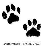 ink dog's paw illustration  cat ... | Shutterstock .eps vector #1753079762