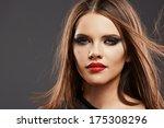 hair style model studio... | Shutterstock . vector #175308296