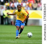 Small photo of Dortmund, GERMANY - June 27, 2006: Ronaldinho in action during the 2006 FIFA World Cup Germany Brazil v Ghana at Signal Iduna Park.