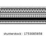 maori polynesian tattoo... | Shutterstock .eps vector #1753085858