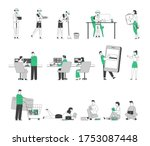 set of male female characters... | Shutterstock .eps vector #1753087448