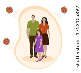vector illustration parents and ...   Shutterstock .eps vector #1753105892