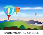 floating hot air balloons | Shutterstock . vector #175310816