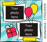 children's photo book in pop...   Shutterstock .eps vector #1753115255