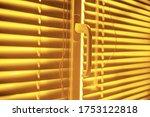 Yellow Closed Horizontal Blinds ...