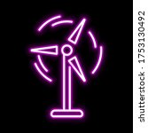 wind power pink glowing neon ui ...