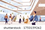 joyful man and woman with... | Shutterstock .eps vector #1753159262