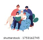 grandfather and relatives... | Shutterstock .eps vector #1753162745
