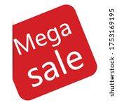 mega sale banner. special sale  ... | Shutterstock .eps vector #1753169195