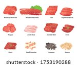 various meat parts of yakiniku | Shutterstock .eps vector #1753190288