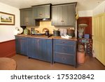 the kitchen in a primitive... | Shutterstock . vector #175320842