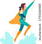 super mom vector illustration....   Shutterstock .eps vector #1753260485