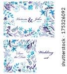 wedding invitation  save the... | Shutterstock .eps vector #175326092