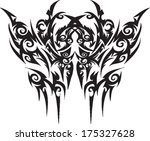 vector tattoos for back  arms. | Shutterstock .eps vector #175327628