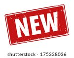 new product or offer red rubber ... | Shutterstock . vector #175328036