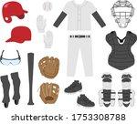 baseball equipment...   Shutterstock .eps vector #1753308788