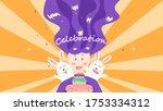 celebration birthday party ... | Shutterstock .eps vector #1753334312