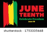 juneteenth freedom day. african ... | Shutterstock .eps vector #1753335668