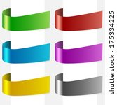 set of clean side ribbons with... | Shutterstock . vector #175334225