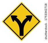 turn left or right or go... | Shutterstock .eps vector #1753342718