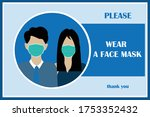 wear face mask sign and symbol. ... | Shutterstock .eps vector #1753352432