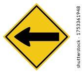 turn left sign  turn left... | Shutterstock .eps vector #1753361948