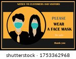 wear face mask sign and symbol. ... | Shutterstock .eps vector #1753362968