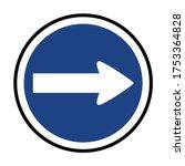 turn right sign  turn right... | Shutterstock .eps vector #1753364828