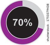 Seventy Percentage Circle Icon  ...