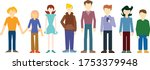 different 8 people without... | Shutterstock .eps vector #1753379948